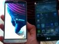 LG G3 ved siden af LG G2 (til højre)