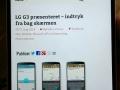 """""""Tilfældig"""" webside vist på LG G3"""