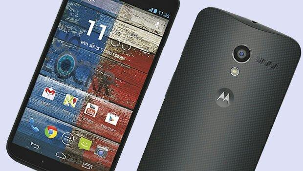 Motorola Moto X forfra og bagfra