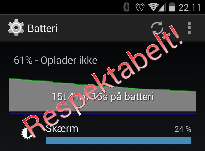 Respektabelt batteriforbrug når Sonos Controller er afinstalleret
