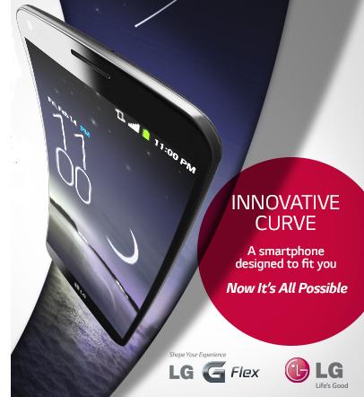 LG G Flex - pressefoto