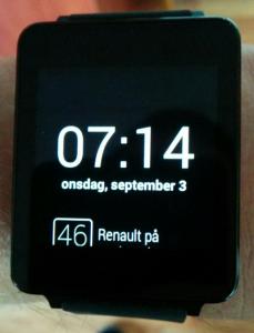 LG G Watch Notifikation i bunden af skærmen