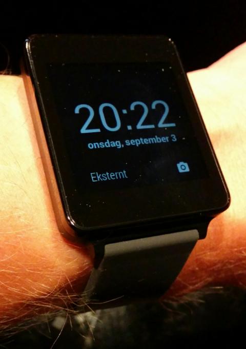 LG G Watch på armen